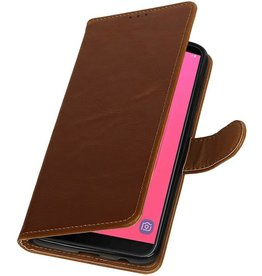 Pull Up Bookstyle for Samsung Galaxy J8 Brown