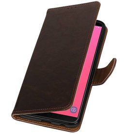 Pull Up Bookstyle for Samsung Galaxy J8 Mocca