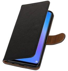 Pull Up Bookstyle für Huawei P Smart Plus Schwarz