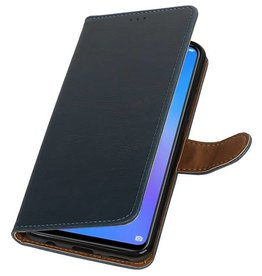 Pull Up Bookstyle voor Huawei P Smart Plus Blauw