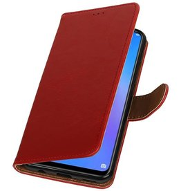 Pull Up Bookstyle voor Huawei P Smart Plus Rood