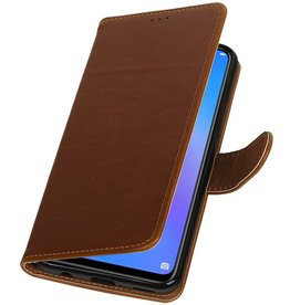 Pull Up Bookstyle for Huawei P Smart Plus Brown