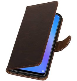Pull Up Bookstyle for Huawei P Smart Plus Mocca