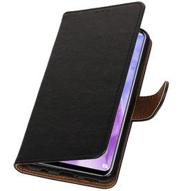 Pull Up Bookstyle voor Huawei Nova 3 Zwart