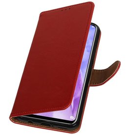 Pull Up Bookstyle voor Huawei Nova 3 Rood