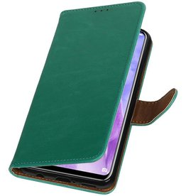 Pull Up Bookstyle for Huawei Nova 3 Green