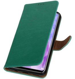 Pull Up Bookstyle voor Huawei Nova 3 Groen