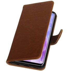 Pull Up Bookstyle voor Huawei Nova 3 Bruin