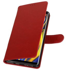 Pull Up Bookstyle for Samsung Galaxy Note 9 Red
