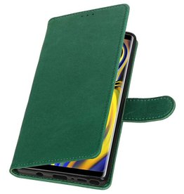 Pull Up Bookstyle for Samsung Galaxy Note 9 Green
