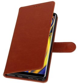 Pull Up Bookstyle for Samsung Galaxy Note 9 Brown