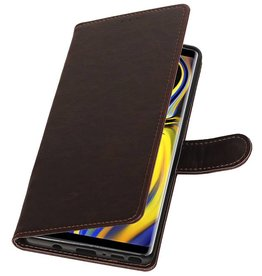 Pull Up Bookstyle for Samsung Galaxy Note 9 Mocca