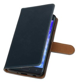 Pull Up Bookstyle for Samsung Galaxy J7 2018 Blue