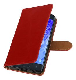 Pull Up Bookstyle for Samsung Galaxy J7 2018 Red