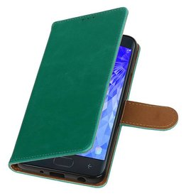 Pull Up Bookstyle for Samsung Galaxy J7 2018 Green