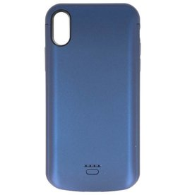 Battery Power Case for iPhone XR 5000 mAh Audio Blue
