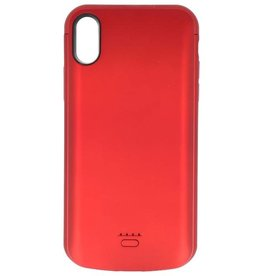 Battery Power Case for iPhone XR 5000 mAh Audio Red