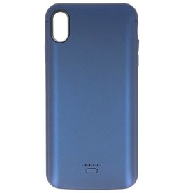Battery Power Case for iPhone XS Max 5000 mAh Audio Blue