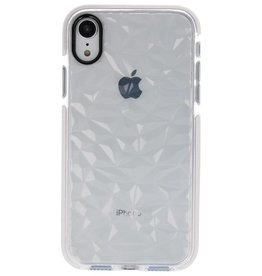 Transparent Geometric Style Silicone Cases for iPhone XR