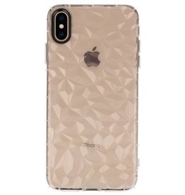 Transparent Geometric Style Silicone Cases iPhone XS Max