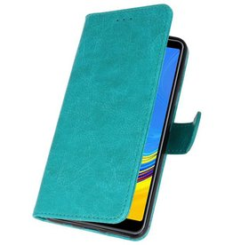 Bookstyle Wallet Cases Case for Galaxy A7 2018 Green