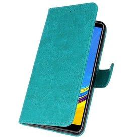Bookstyle Wallet Cases Hülle für Galaxy A7 2018 Grün