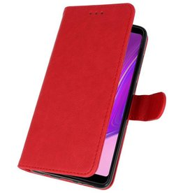 Bookstyle Wallet Cases Hülle für Galaxy A9 2018 Rot