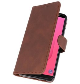 Bookstyle Wallet Cases Hoesje voor Galaxy A9 2018 Bruin