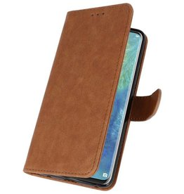 Bookstyle Wallet Cases Case for Huawei Mate 20 Pro Brown