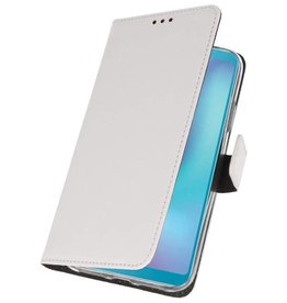 Wallet Cases Hoesje voor Samsung Galaxy A6s Wit