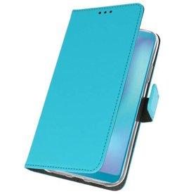 Wallet Cases Hoesje voor Samsung Galaxy A6s Blauw