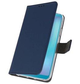Wallet Cases Hoesje voor Samsung Galaxy A6s Navy