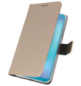Wallet Cases Hoesje voor Samsung Galaxy A6s Goud
