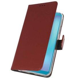 Wallet Cases Hülle für Samsung Galaxy A6s Braun