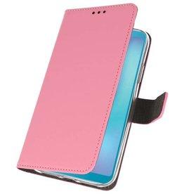Wallet Cases Hülle für Samsung Galaxy A6s Pink