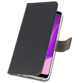 Wallet Cases Hülle für Samsung Galaxy A9 2018 Schwarz