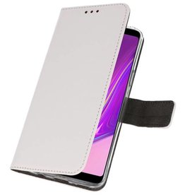 Wallet Cases Hoesje voor Samsung Galaxy A9 2018 Wit