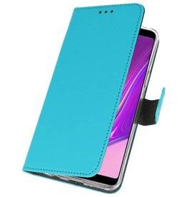 Wallet Cases Hülle für Samsung Galaxy A9 2018 Blau