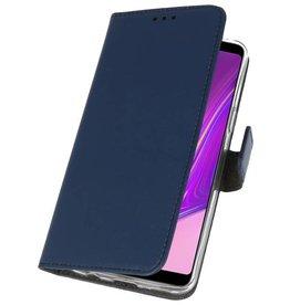 Wallet Cases Hülle für Samsung Galaxy A9 2018 Navy