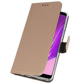 Wallet Cases Hoesje voor Samsung Galaxy A9 2018 Goud