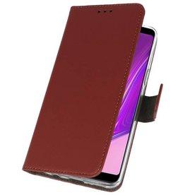 Wallet Cases Hülle für Samsung Galaxy A9 2018 Braun