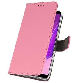 Wallet Cases Hülle für Samsung Galaxy A9 2018 Pink