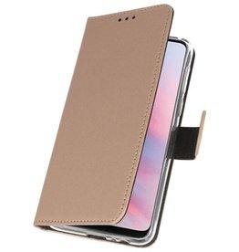 Wallet Cases Hülle für Huawei Y9 2019 Gold