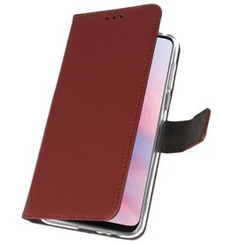 Wallet Cases Case for Huawei Y9 2019 Brown