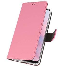 Wallet Cases Hoesje voor Huawei Y9 2019 Roze
