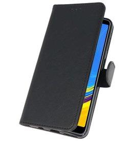 Bookstyle Wallet Cases Hülle für Galaxy A7 2018 Schwarz
