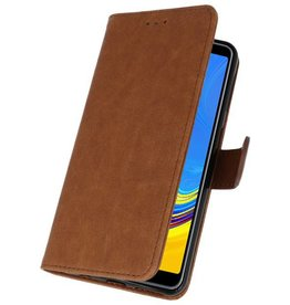 Bookstyle Wallet Cases Case for Galaxy A7 2018 Brown