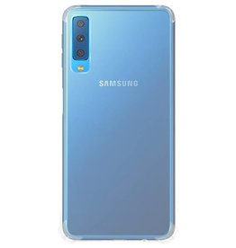 Stoßfestes transparentes TPU-Gehäuse für Galaxy A7 2018