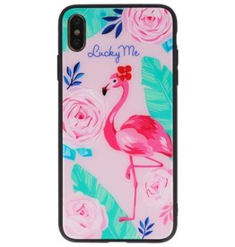 Print Hardcase for iPhone XS Max Lucky Me Flamingo