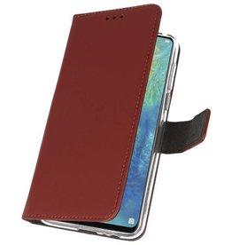 Wallet Cases Hoesje voor Huawei Mate 20 X Bruin